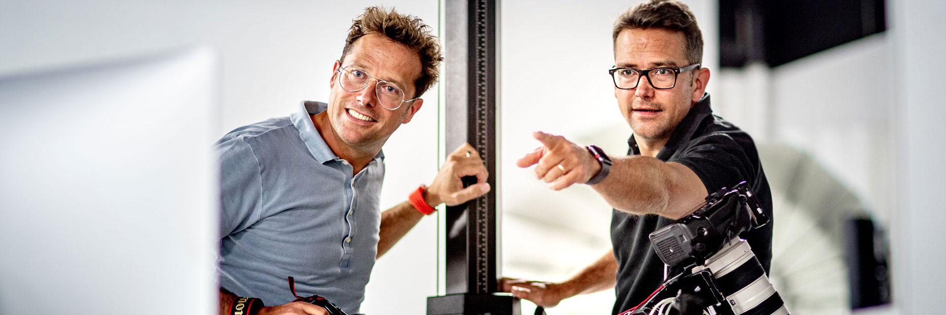 Die beiden Coesfelder Fotografen Sven und Tim Marquardt in Ihrem Fotostudio zwischen Ruhrgebiet und Münsterland