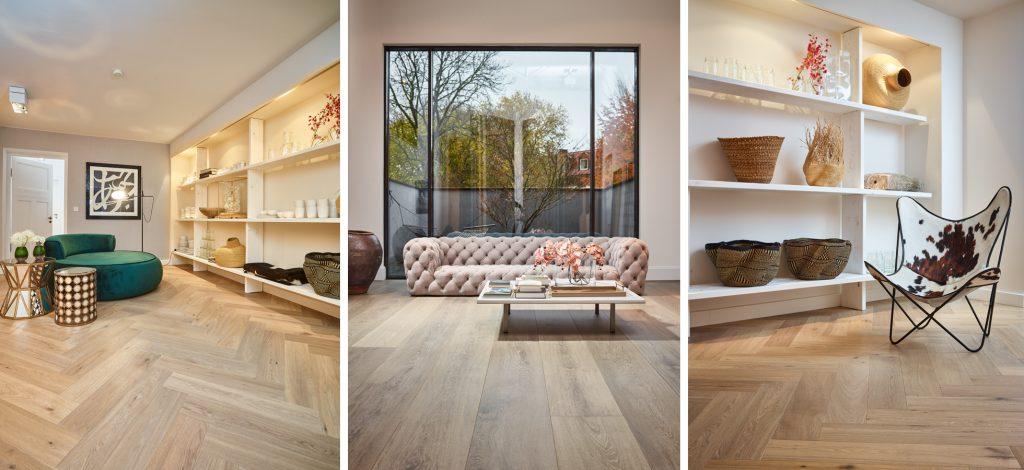 unterschiedliche Möbel unterschiedlich in Szene gesetzt