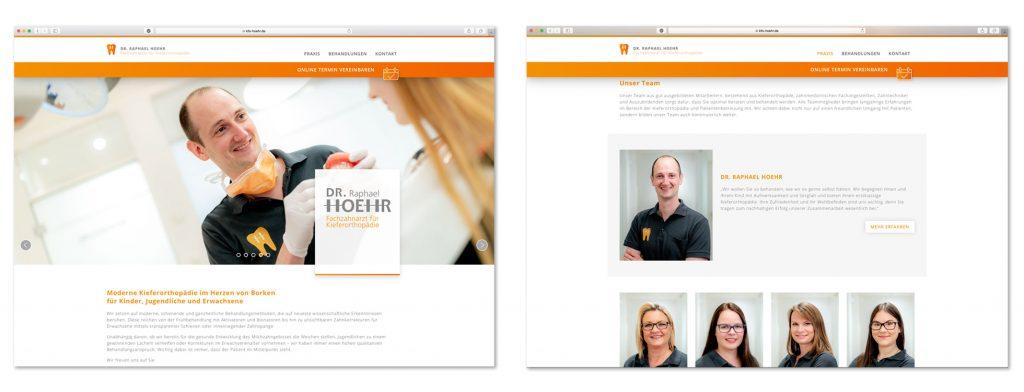 Mitarbeiterfotos auf der Internetseite