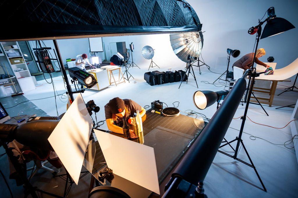 Aufbau im Studio