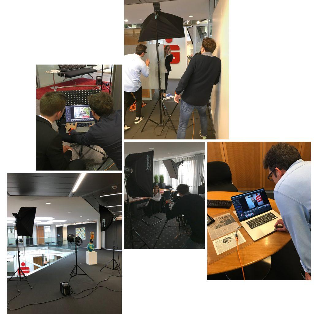 behind the scenes Sparkasse foto